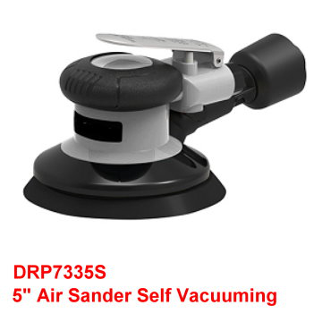"5"" Air Sander is designed with Alum.alloy shell spray surface,screen printing processing logo,looks more beautiful."