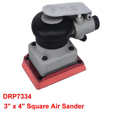 "3"" x 4"" Square Air Sander is designed with soft comfortable grip and lightweight for continuous fatigue free use."