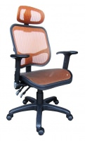 all mesh chair with two function mechanism.  Adjustable arm with PU pad.[ 愛迪昇企業有限公司]