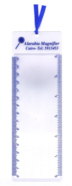 Wonderful bookmark with magnifier for daily usage. With ruler scale or client's logo onto it as giveaway premium.[育勝企業有限公司]