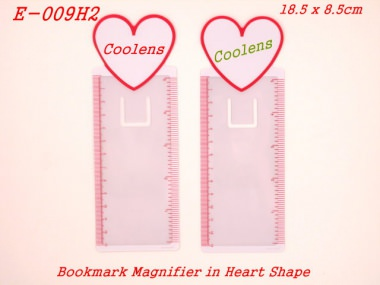 Wonderful bookmark in computer shape with magnifier and ruler scale for daily usage. The white block is reserved for client's logo printing.[育勝企業有限公司]